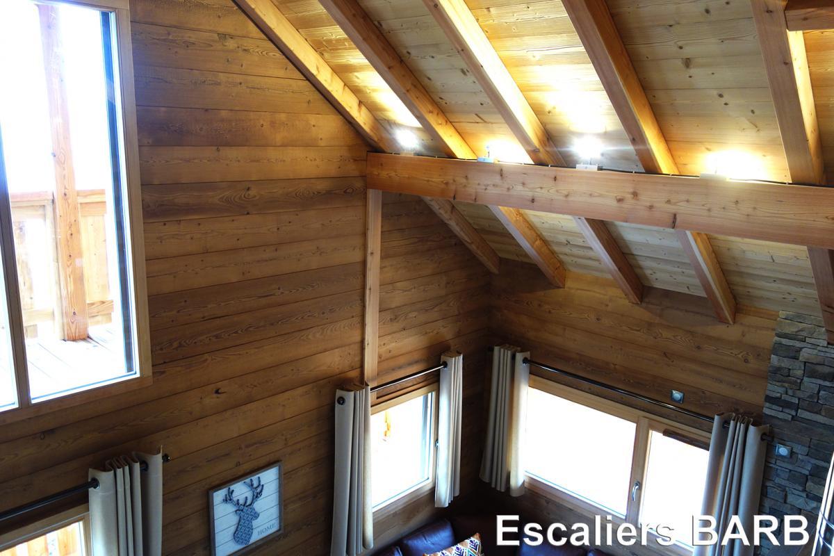 Aménagement en bois brossé - Escaliers Barb