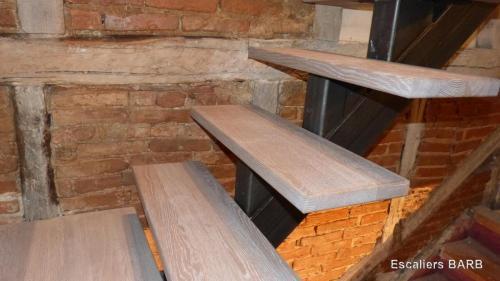 escalier bois fer