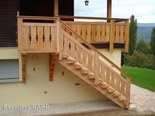 escalier exterieur meleze