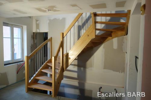 escalier hetre pin
