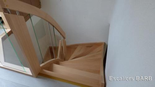 escalier lamelle colle hetre