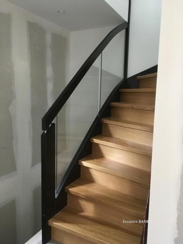 escalier laque noir chene copie