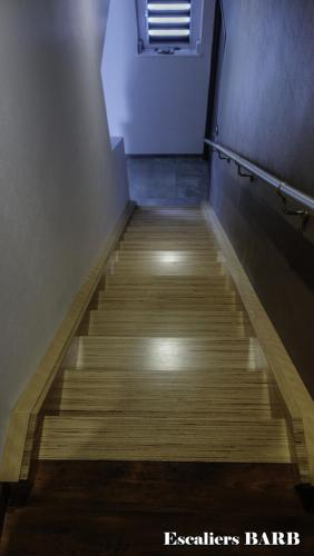 Escalier bois moderne multiligne