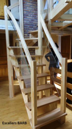 escalier lamellé collé