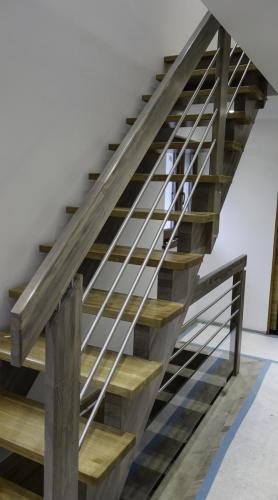 escalier moderne cremailleres