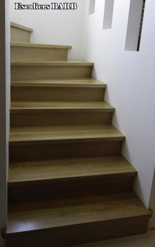 revetement escalier beton en chene